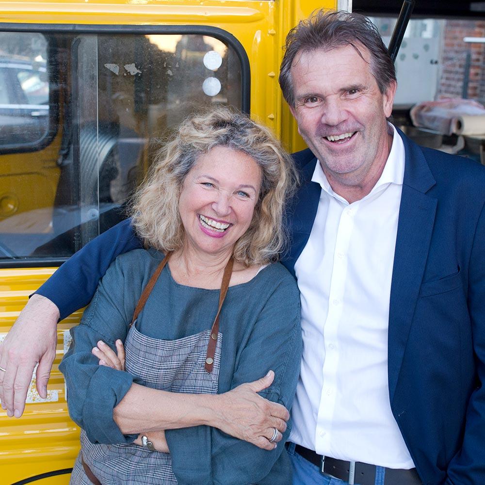 Haya Molcho & Uwe Stöhr (Geschäftsführer Grossmann Feinkost GmbH)