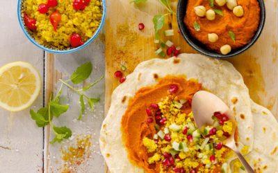 "Rezepttipp ""Orientalischer Couscous-Humus-Wrap"""